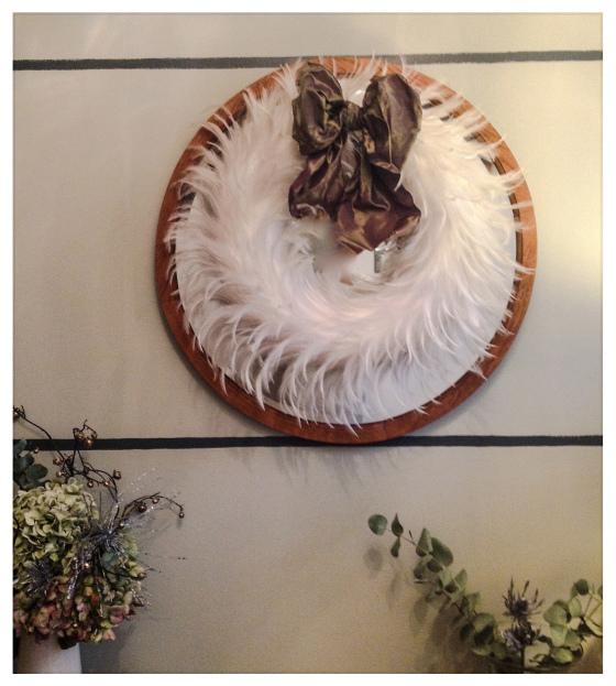 feather wreath