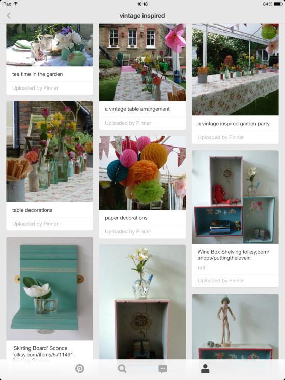 vintage inspired pinterest board