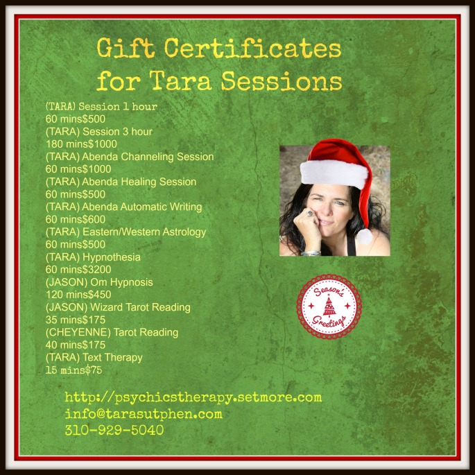 gift certificates Tara sessions